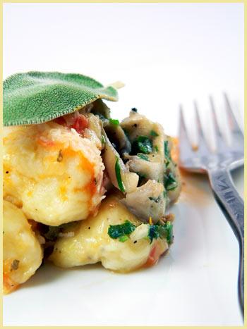 potato gnocchi mushroom