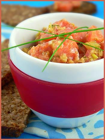 salmon tartar ginger