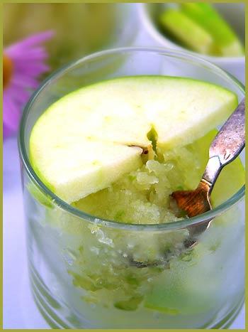 Green and Green Apple Sorbet — Du vert et un sorbet à la pomme ...