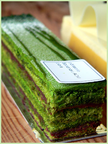 Matcha Tea Opéra with Chocolate Filling . I personally could not ...