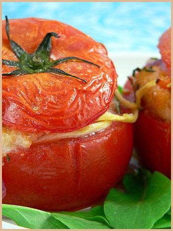 stuffed tomato croûton savory sarriette