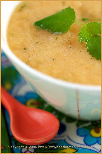 vanilla melon soup