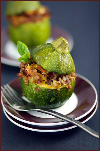 round zucchini stuffed vegetable