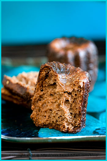 chocolate canelé cannelé