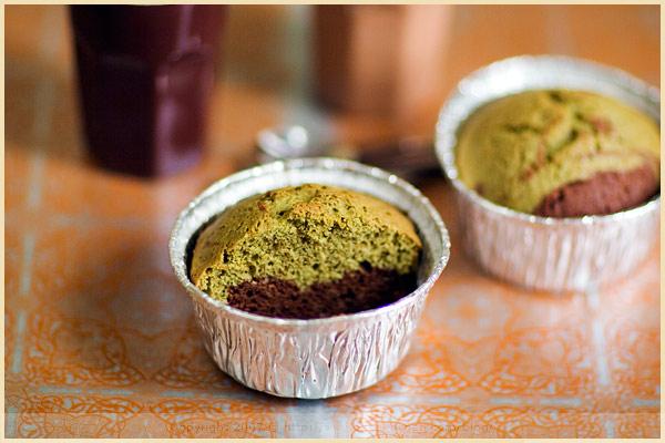 matcha tea chocolate cake