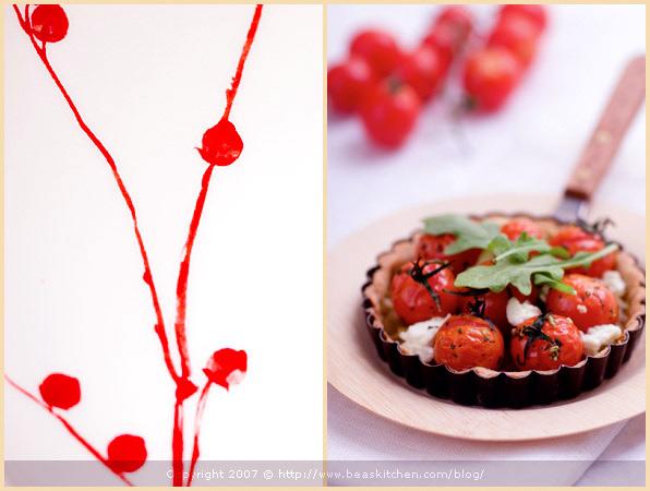food stying tartine gourmande fennel cherry tomato tartlet balsamic crust