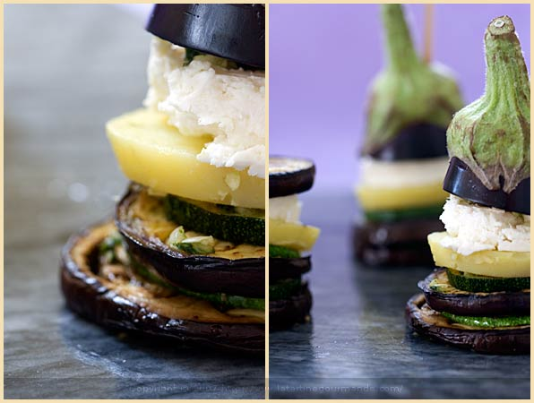 zucchini eggplant millefeuille