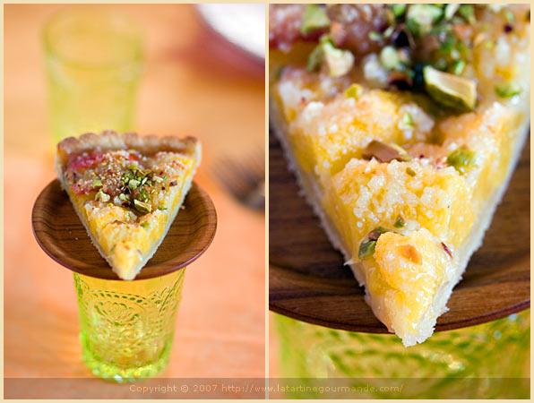 olive oil crust apricot tart