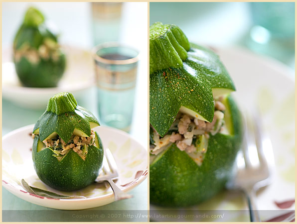 stuffed eight ball round zucchini
