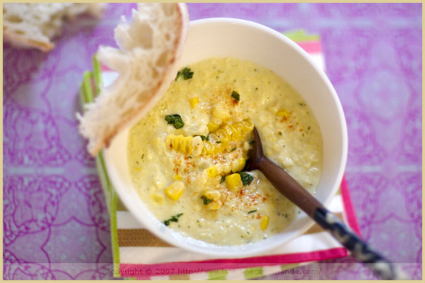 corn soup paprika