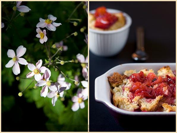 plum brioche pudding