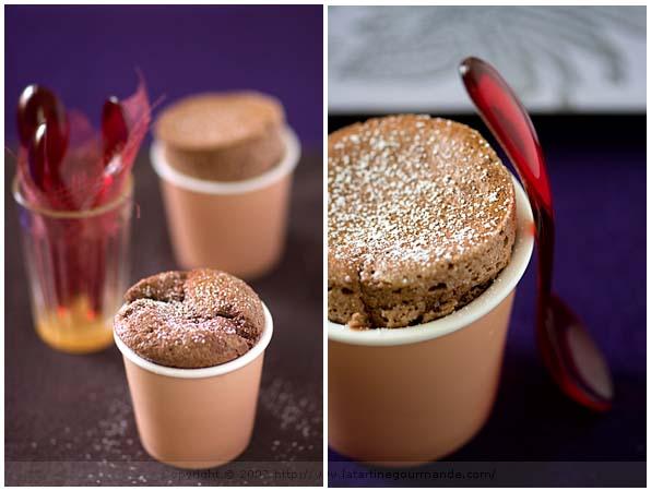 soufflé chocolate cardamom
