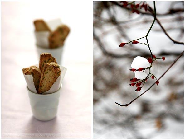 biscotti vanilla pistachios pecans