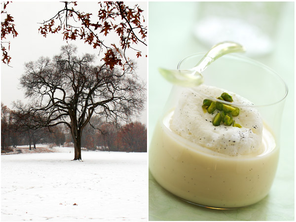 snow eggs vanilla cardamom