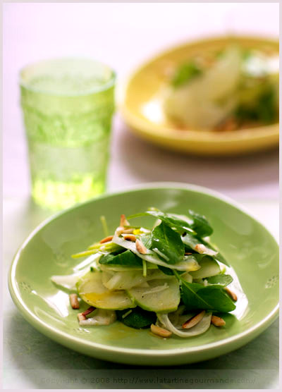 fennel apple arugula salad boston globe