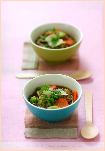 minestrone soup quinoa red rice