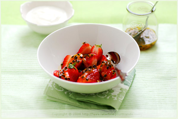 strawberry passion fruit syrup yogurt