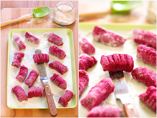 beet potato gnocchi