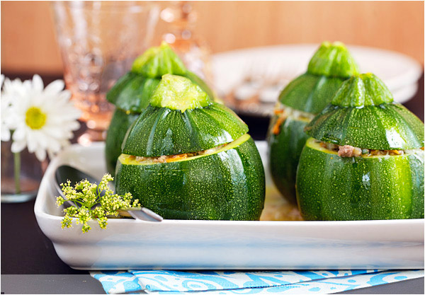 stuffed zucchini squash