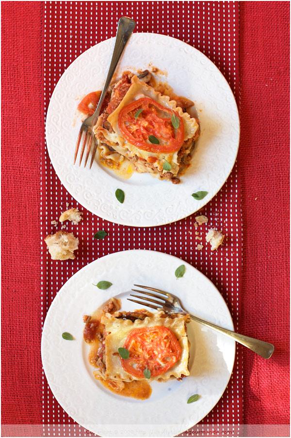 lasagna eggplant mushroom