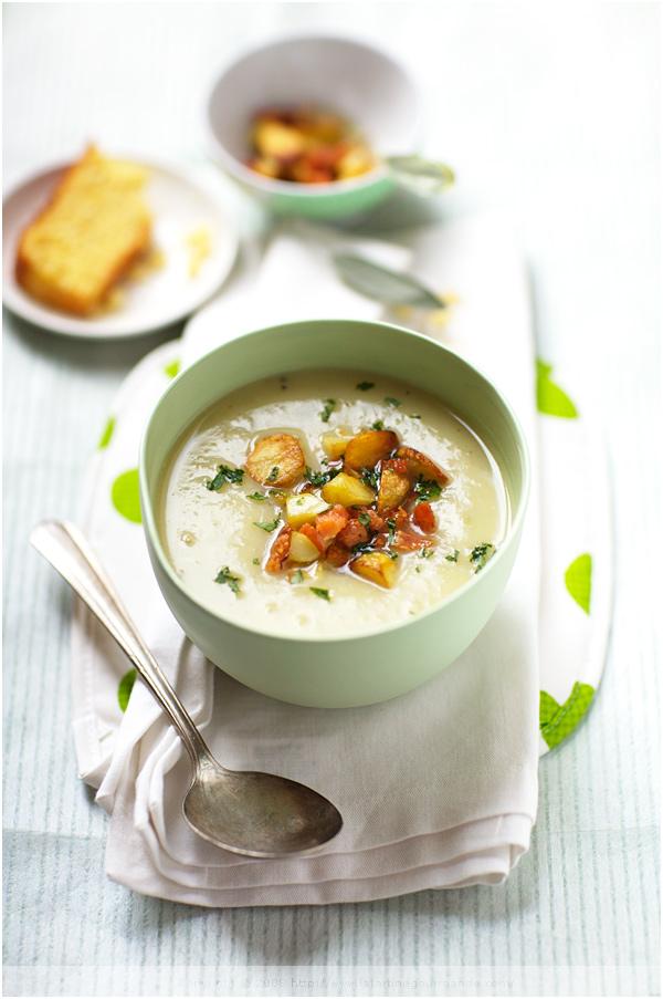 potato soup smoked salmon