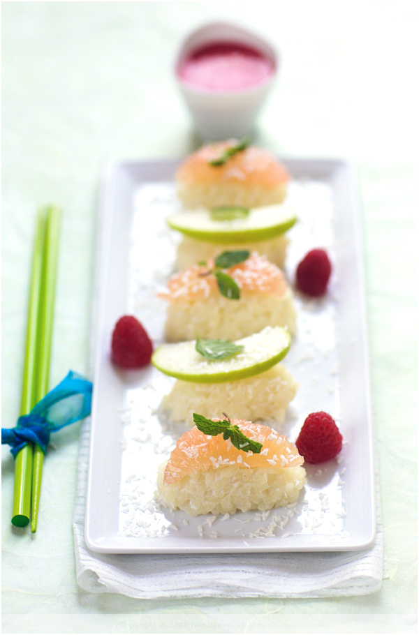 fruit sushi rice pudding