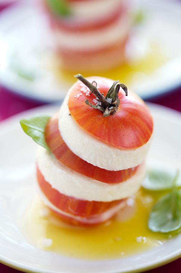 tomato millefeuille mozzarella