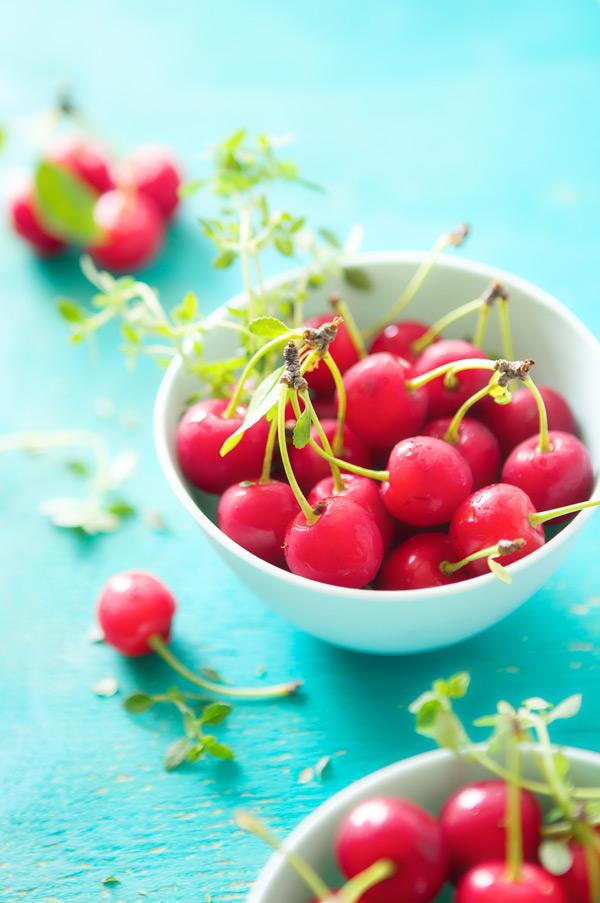 sour cherry soup vanilla lemon thyme cerises aigres