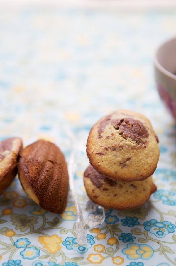 gluten free madeleines marbled