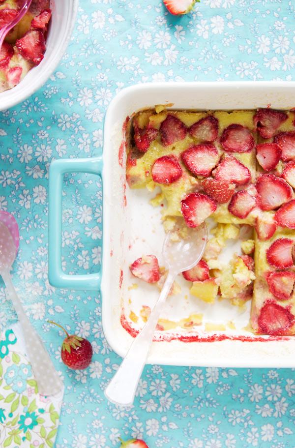 gluten free strawberry clafoutis