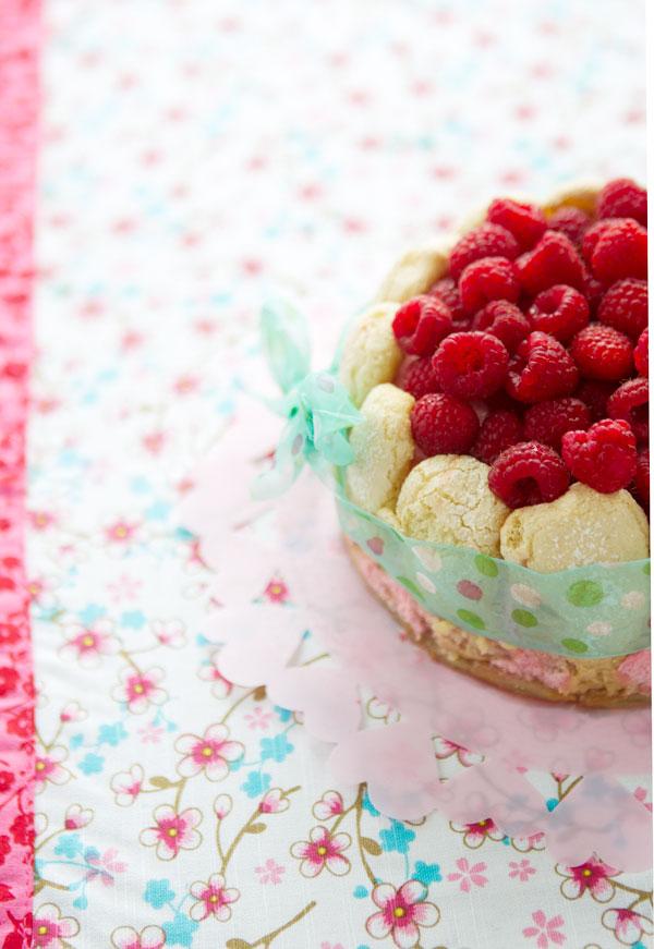 gluten free raspberry charlotte French dessert